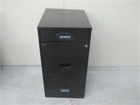 """As Is"" Lorell LLR17427 SOHO Mobile Cabinet, Black"