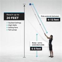 Cobweb Duster, Extendable Reach 20 feet, Ceiling