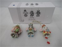 """""""As Is"""" Precious Moments 171064 Mice with Crown"""