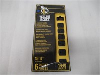 Yellow Jacket 5138 15-Foot 6-Outlet Metal Surge