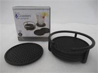 Spectrum Euro Coaster Container Set - Color: Black