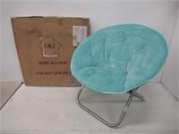 Urban Shop Light Blue Faux Fur Saucer Chair