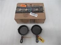 "Lodge Logic Miniature Skillet,3.5"" 2 - Pack"