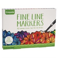 Crayola Fine Line Markers 40 Vibrant Colors