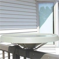 Birds Choice Heated Bird Bath Bay Wave White