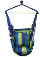 Sorbus Swing Blue Hanging Rope Hammock Chair Swing