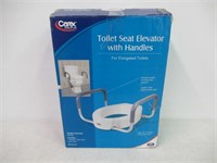 """As Is"" Carex Raised Toilet Seat With Handles for"