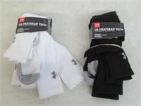(2) Under Armour Medium Heatgear Tech Socks 4-Pack