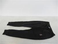 Reebok Women's Small Fleece Pant, Black/White