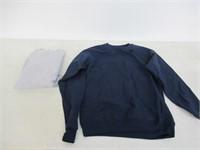 (2) Hanes Men's Small Long Sleeve Sweater, Navy &