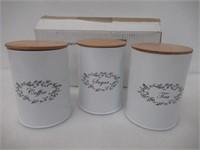 Mind Reader URBCAN3-WHT 3 Piece Sugar, Tea, Coffee