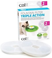 Catit 43745 Triple Action Fountain Filter (2