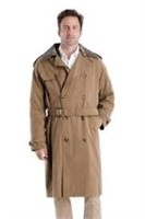 London Fog Men's 38R Iconic Double Breasted Trench