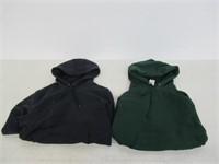 (2) Essentials Men's Small Hooded Fleece