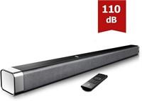 """BOMAKER 37"""" 2.0 TV Sound Bar w/ Built-in Subwoofer"""