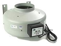 Tjernlund M-6 Inline Duct Booster Fan, Hydroponic