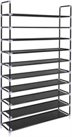 SONGMICS 10-Tier Shoe Rack, 50 Pairs Shoe Tower,