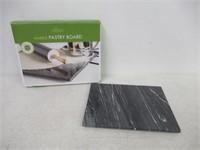 Fox Run 3833 Marble Pastry Board, Black
