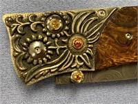 William Henry, Typhoon Damascus blade, desert iron