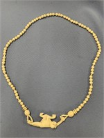 Outstanding Ivory beaded necklace with impressive