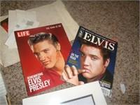Elvis Presley collector plates, magazines, & pic