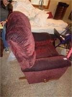 Red burgandy rocking recliner