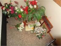 Large mirror, flowers, photo, decor, art