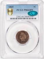 1C 1865 PCGS PR66 BN CAC
