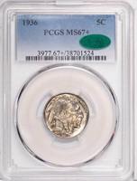 5C 1936 PCGS MS67+ CAC