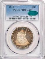 50C 1878 PCGS PR66 CAM CAC