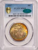 50C 1937 PCGS MS68 CAC