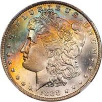 $1 1888-O NGC MS67