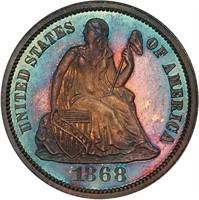 10C 1868 PCGS PR66+ CAM CAC