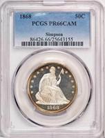 50C 1868 PCGS PR66 CAM