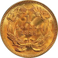 G$1 1889 PCGS MS68+ CAC