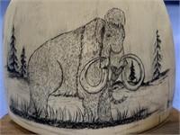 Michael Scott scrimshaw wooly mammoth on fossilize