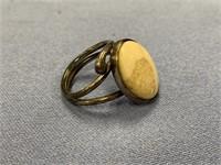 """18"""" Strand of white stone beads             (P 1)"""