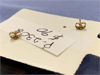 Pair of ivory square abstract and baleen earrings