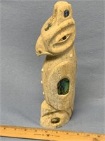 Michael Scott fossilized whalebone carving of a Tl