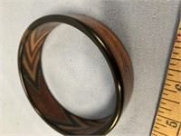Stacked wood bracelet made from exotic hardwoods a