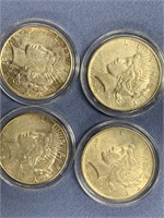 Lot of 4 Peace silver dollars  1922 S, 1922, 1922,