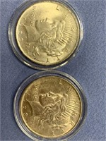 Lot of 4 Peace silver dollars  1923, 1922, 1922 S,