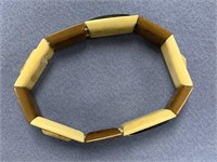 Outrageous fossilized ivory stretch bracelet with