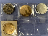 Lot of 4 Assorted Alaska trade dollars and tokens