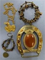 Lot of misc. costume jewelry pieces        (3)