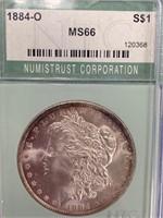 Morgan silver dollar 1884 O MS66 by NGC        (33