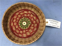 Hand woven basket made from Georgia longleaf pine