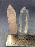 Lot of 2 tapered crystal specimens (M 613)