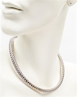 Jewelry 18kt White Gold Braided Necklace