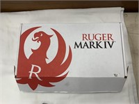 Ruger Mark IV target pistol with anodized aluminum